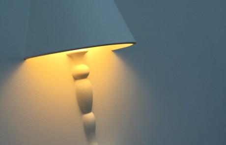 stucwerk rondom lamp